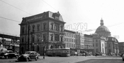 Broadway looking northeast at Bedford Avenue showing two banks, c.1950