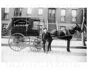 Amphion Hand Laundry wagon 117 Rutledge St circa 1909