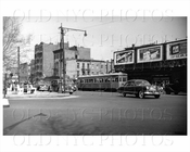 Nostrand Ave 6000 type trolley Roebling & Lee St 1951
