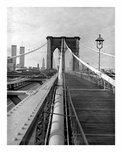 Brooklyn Bridge - view from promenade looking towards Manhattan showing cables 1979