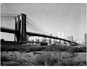 Brooklyn Bridge - view looking from the Brooklyn shore 1974