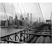 Brooklyn Bridge with The World Trade Center in the background 1982