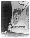 Brooklyn Dodger Pee Wee Reese wall in the outfield  1950 Ebbets Field - Flatbush - Brooklyn NY