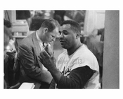 Brooklyn Dodger - Roy Campenella in the locker room post game at Ebbets Field 1957 Brooklyn NY