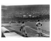 Brooklyn Dodgers Pitchers warming up at  Ebbets Field 1957 Brooklyn NY
