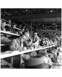 Brooklyn Dodgers Press Box Ebbets Field 1956
