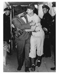 Brooklyn Dodgers Rickey Branch & Preacher Row post game at Ebbets Field