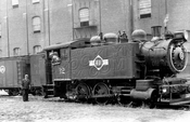Brooklyn Eastern District Terminal tank locomotive 12 in 1934. BEDT became last steam railroad in Brooklyn