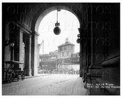 Chambers St view East from Municipal Building arch to Park Row Manhattan NYC 1915
