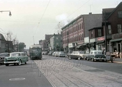 Church Avenue west from East 5th Street, October 1956