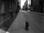 Church Street looking north near Franklin Street, Tribeca, before widening, 1927