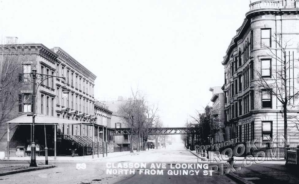 Classon Avenue north from Quincy Street, 1909