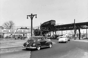 Conduit Avenue southeast at Liberty Avenue, 1956