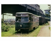 Coney Island trolley taken off track 1960