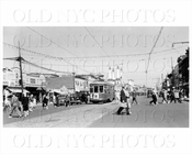Coney Island with Seagate trolley 1940