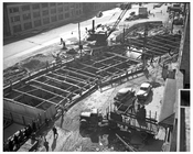 Construction of West Side Highway