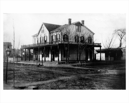 Cropsey Ave & Bay St. looking north 1890 - Captain Henry Ahrens Hotel