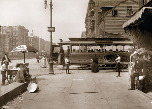 Delancey St. west to Essex Street Manhattan 1907