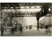 Delancey Street - view east at the Bowery 1915