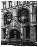 Detailed shot of the entrance to the Establishment at  4th Avenue & 27th Street Gramercy Park, Manhattan, NY 1900