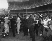 Dodgers win the World Series, October 4, 1955, at Yankee Stadium