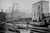 Dow Stores and dock, foot of Pacific Street, 1882