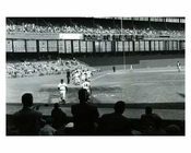 Early 1950's game at the Polo Grounds - some empty seats