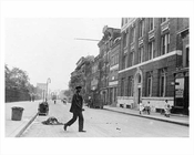 East 35th Street looking East toward 2nd Avenue - St. Gabriels Park at left - Murray Hill Manhattan 1914 NYC