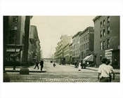 East 35th Street looking West facing 2nd Avenue toward 3rd Avenue Murray Hill Manhattan 1914 NYC