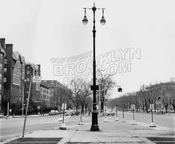 Eastern Parkway east from Washington Avenue, 1959