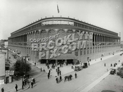 "Ebbets Field entrance, ""The Rotunda,"" soon after the field was opened"