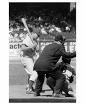 Ebbets Field - last game between Brooklyn Dodgers & Giants - Pee Wee Reese coming to bat 1957