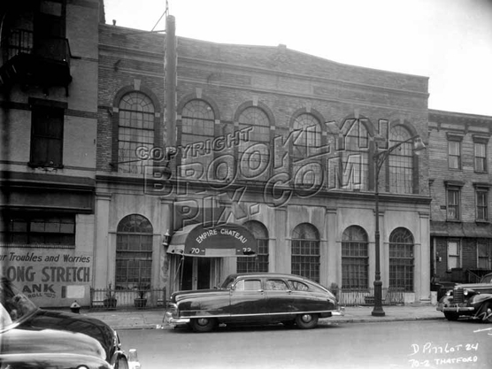 Empire Chateau, a Brownsville catering hall, 70-72 Thatford Avenue, 1953