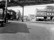 Evergreen Avenue looking northwest to Myrtle Avenue at Suydam Street, 1940