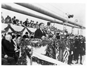 FDR speaks at the opening of the George Washington Bridge 1931