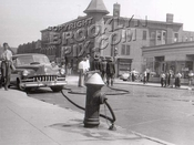 Fire at Bath Avenue near Bay 22 Street, early 1950s.