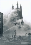Fire at Christ Episcopal Church, Kane and Clinton Streets, February 26, 1939