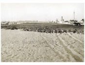 Flatbush Ave Ext 1924 - looking north on line of ext opposite end of dock showing cinder surface