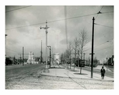 Flatbush Ave Extension looking north from Bridge Street to Manhattan Approach 1916 Brooklyn, NY