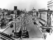Flatbush Avenue Extension looking north from Fulton Street elevated, 1914