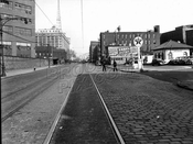 Flushing Avenue east from North Oxford Street, Navy Yard at left, 1946