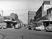 Fort Greene Place Meat Market north of Atlantic Avenue, 1956