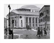 Fulton St Snowing - Dime Savings Bank - Albee Square - Downtown Brooklyn NYC