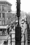 Fulton Street elevated over Pitkin Avenue, at Atkins Avenue, 1956