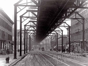 Fulton Street, looking west to Ashland Place, 1915