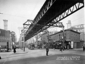 Fulton Street west from Ashland Place, 1921