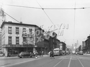 Fulton Street west to Greene Avenue and South Oxford Place, Spring 1947