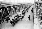 Funeral - Vera Cruz victims - crossing Manhattan Bridge