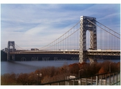 George Washington Bridge - looking northwest from the New York side of the river