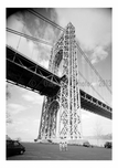 George Washington Bridge -  looking up near the base of the Jersey Tower